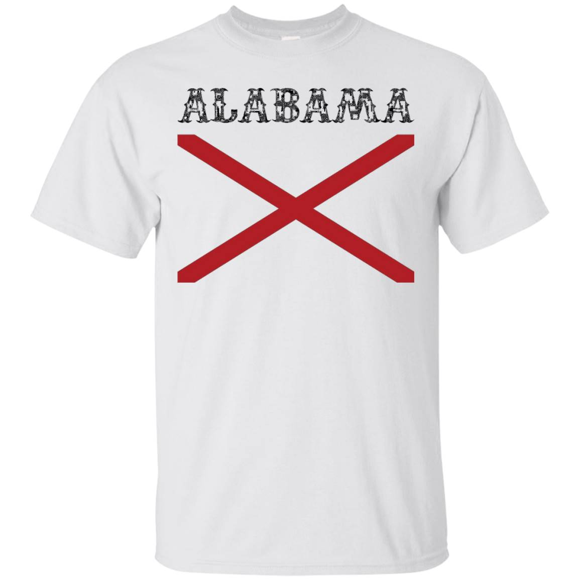 Alabama State Flag T-Shirt (Large flag print) – Alabama Tee