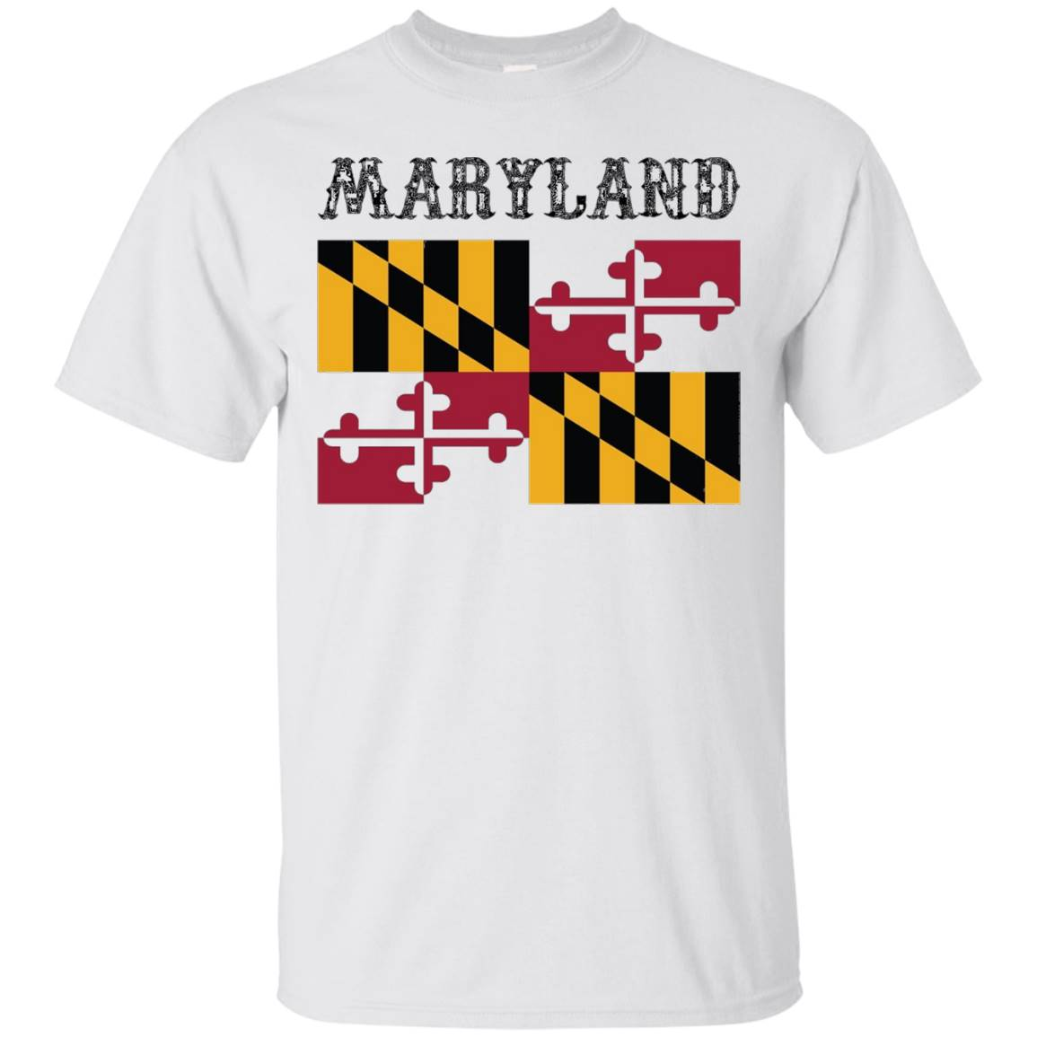 Maryland State Flag T-Shirt – Maryland Pride Tee MD