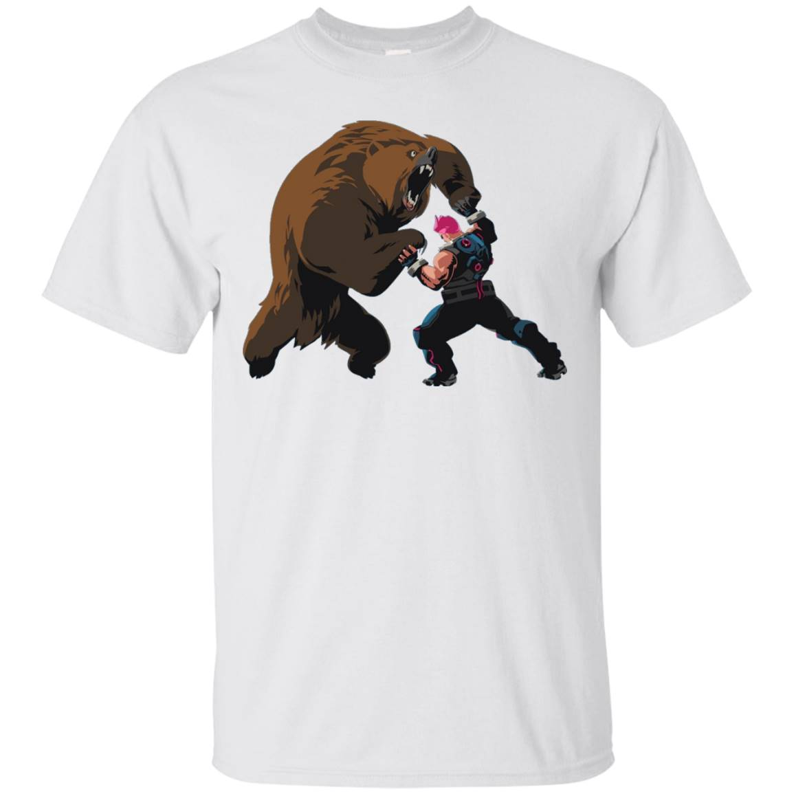Overwatch Zarya Bear Spray Tee Shirt
