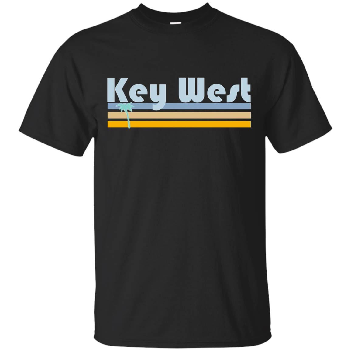 Florida Beachgoer Retro – Palm Tree Key West T-Shirt