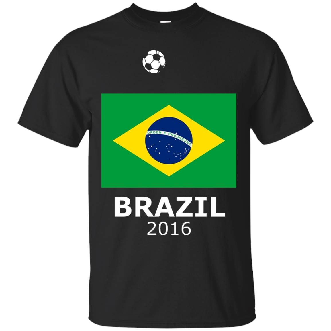 Brazil 2016 Football (Soccer) T-Shirt