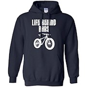 Life Behind Bars T-shirt Mountain Biking Fat Tire Bike Tee