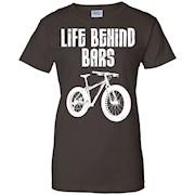 Life Behind Bars T-shirt Mountain Biking Fat Tire Bike Tee