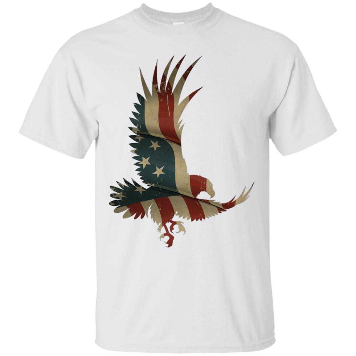 Eagle Flag T-shirt, Stars And Stripes USA American Flag Tee