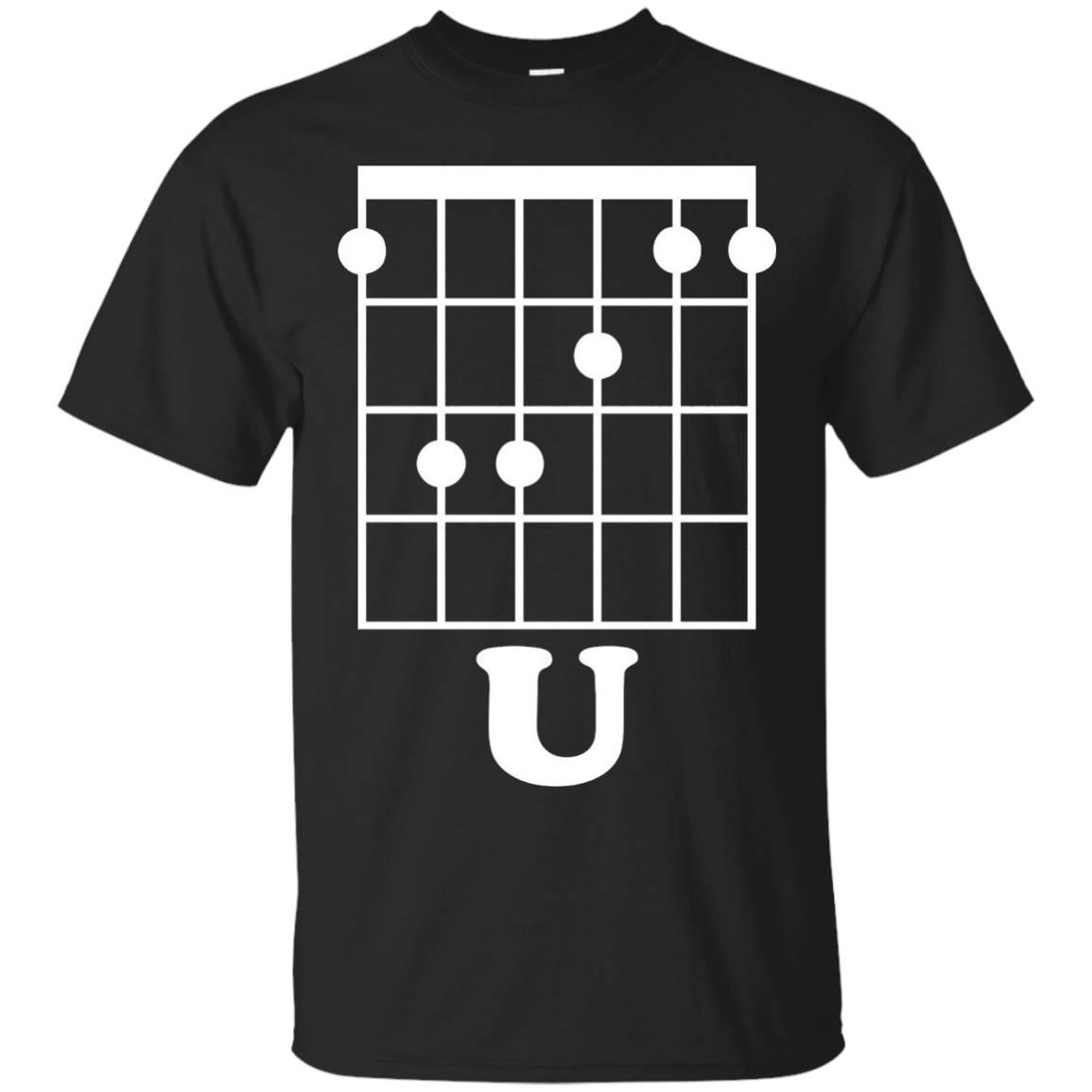Fun Guitar T-Shirt, F Chord U Funny Guitarist Gift