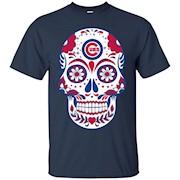 Chicago-Cubs Skull T-Shirt