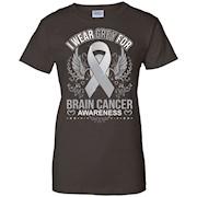 I wear Grey for Brain Cancer Awareness T Shirt