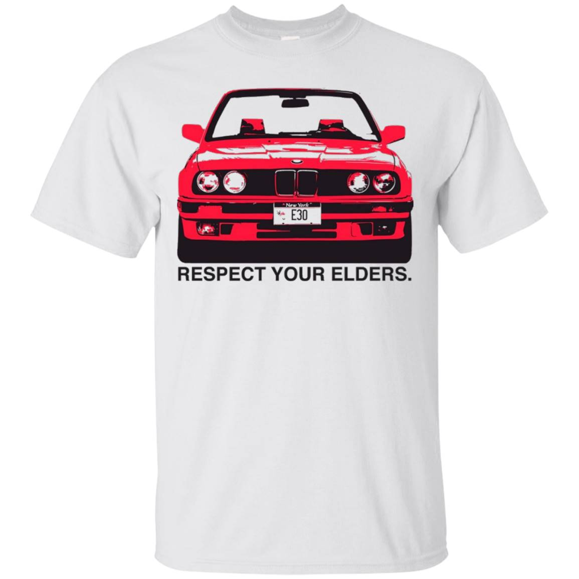 Respect Your Elders E30 T-Shirt Vintage Auto Car Enthusiast