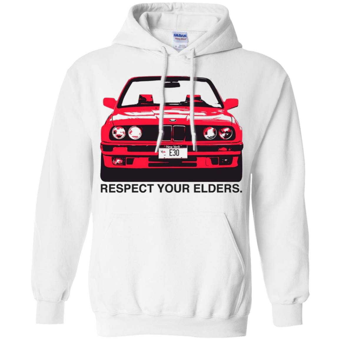 Funny Car LOver Respect Your Elder BMw Logo CLASSIC HOODIE Mens Hoodie