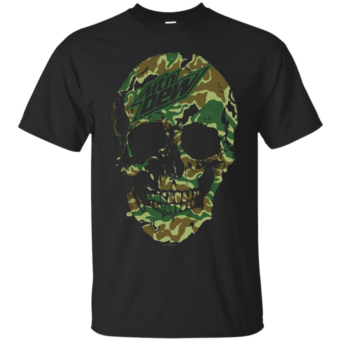 Mountain Dew Skull T-Shirt Soft Touch