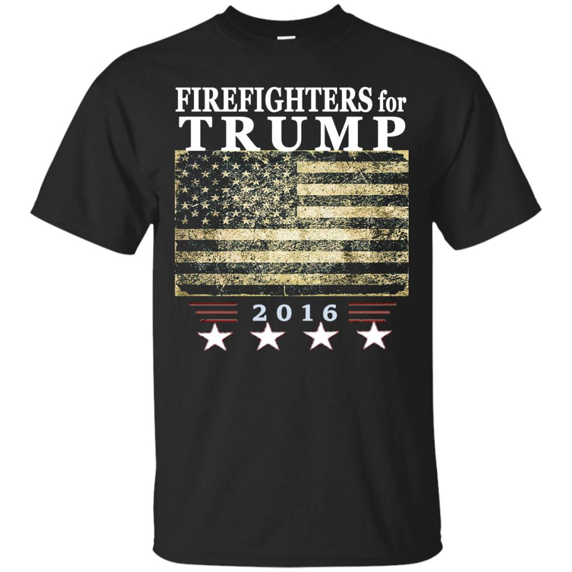 Firefighters Trump Shirt – Vintage style flag tee