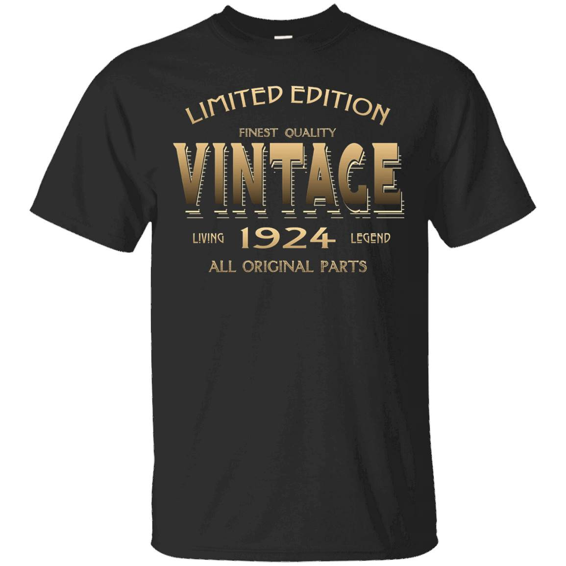 1924 T-shirt 93rd Birthday Gift 93 Year Old B-day Present – T-Shirt