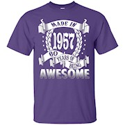 Awesome Made In 1957 Birthday Gift Idea T Shirt – T-Shirt