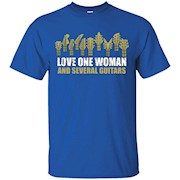 Love One Woman and Several Guitars T Shirt – T-Shirt