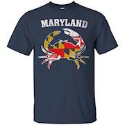 Maryland Vintage Flag Shirt State Flag Blue Crab T-Shirt
