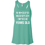 19 Years Old Algebra Equation Funny 19th Birthday Math Shirt – Women Tank