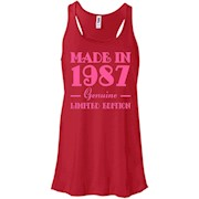 30th Birthday Gift T-Shirt Made In 1987 Genuine Pink – Women Tank
