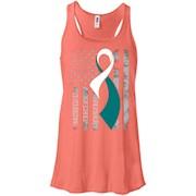 Cervical Cancer Awareness Shirt. American Flag SHIRT – Women Tank