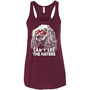 Cocker Spaniel Shirt Can't See The Haters Dog Lovers Tee – Women Tank