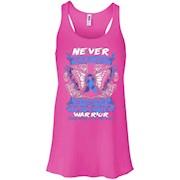 Colon Cancer Awareness T Shirt 2016 – Be Strong – Women Tank