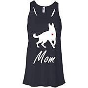 German Shepherd Mom – White – Cute Dog Mom T-shirt – Women Tank