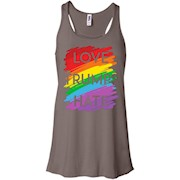 Love Trumps Hate TShirt Rainbow – Women Tank