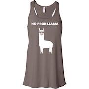 No Prob-Llama Cute Funny Punny Llama Animal Lovers T-Shirt – Women Tank