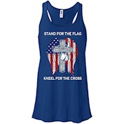 Stand For The Flag Kneel For The Cross T-Shirt – Women Tank