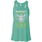 Warning Shirt This Girl Is Protected By A Veteran Shirt – Women Tank