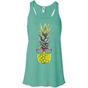 Mod Hippie Neon Yellow Pineapple Graphic T-Shirt Sunglasses – Women Tank