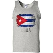 Cuba Flag Shirts Vintage Distressed T-Shirt – Tank Top