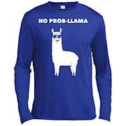 No Prob-Llama Cute Funny Punny Llama Animal Lovers T-Shirt – Long Sleeve Tee