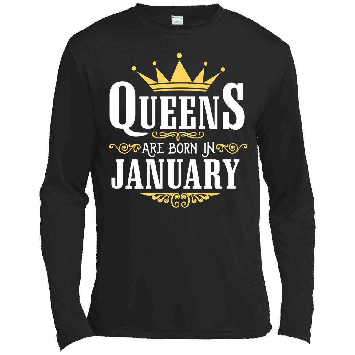 Queens Are Born In January T Shirt Birthday Gift T-Shirt – Long Sleeve Tee