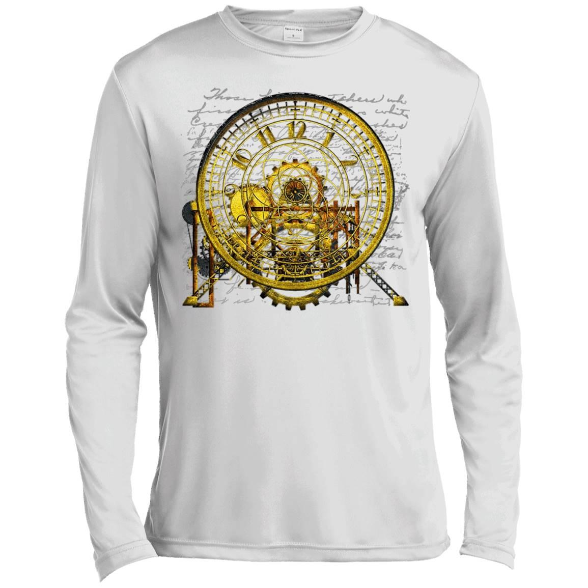 Steampunk Vintage Time Machine No.2 T-Shirts – Long Sleeve Tee