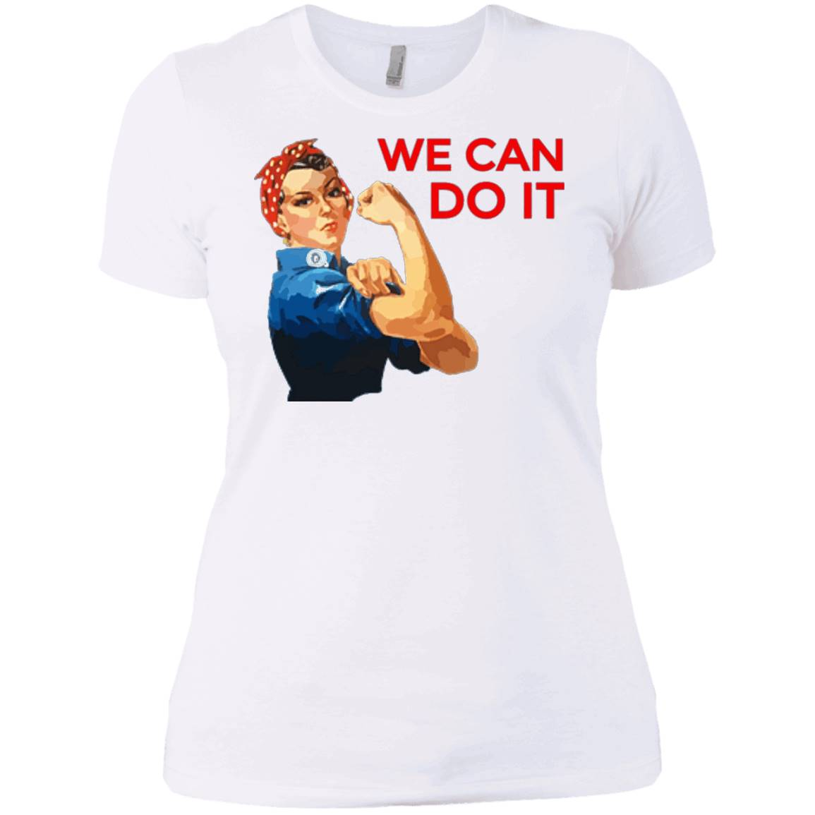 We Can Do It Rosie the Riveter Uplifting T-Shirt in Blue
