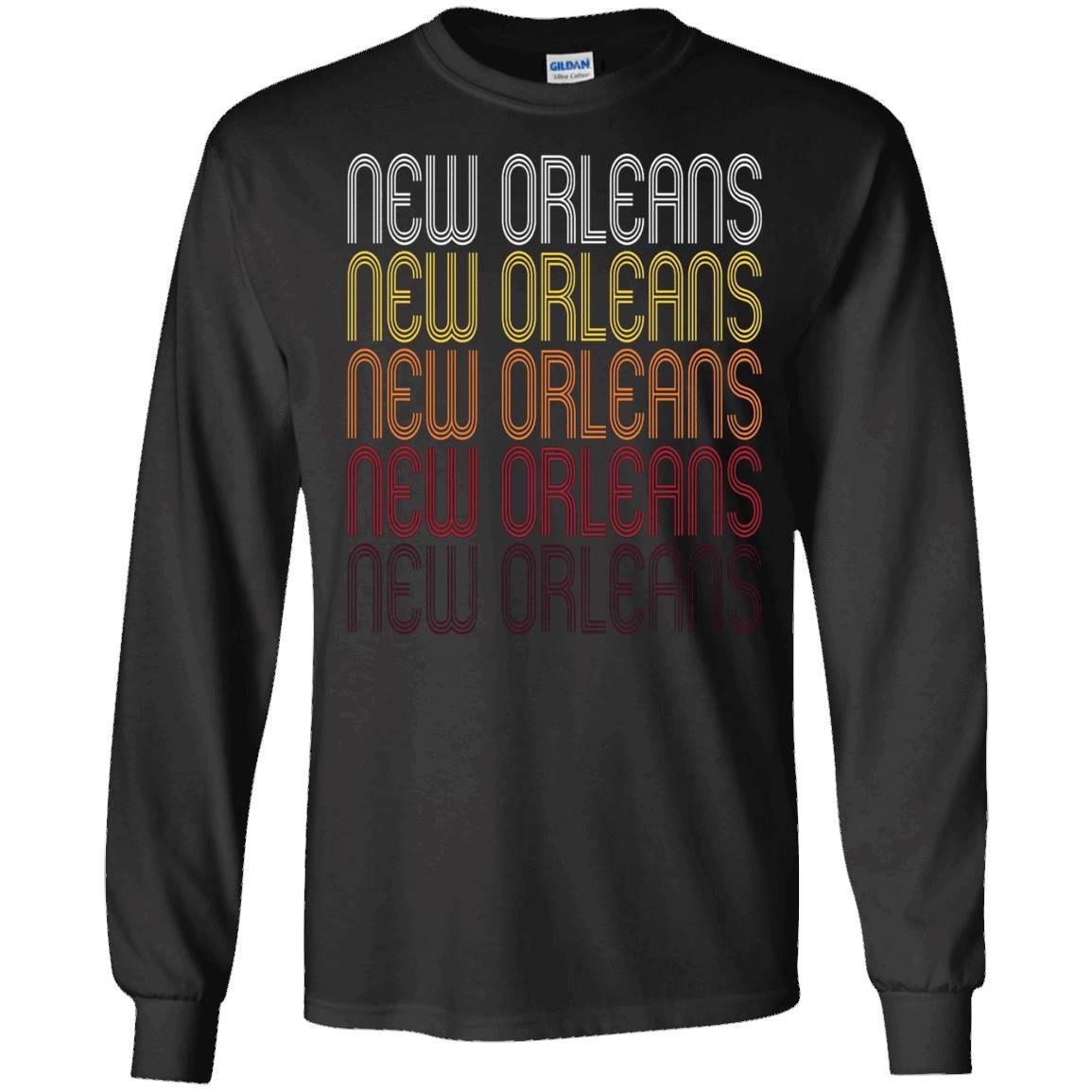 New Orleans, LA Vintage Style Louisiana T-shirt – Long Sleeve Tee