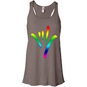 Rainbow I Love You Sign Language deaf culture T shirt Pride – Women Tank