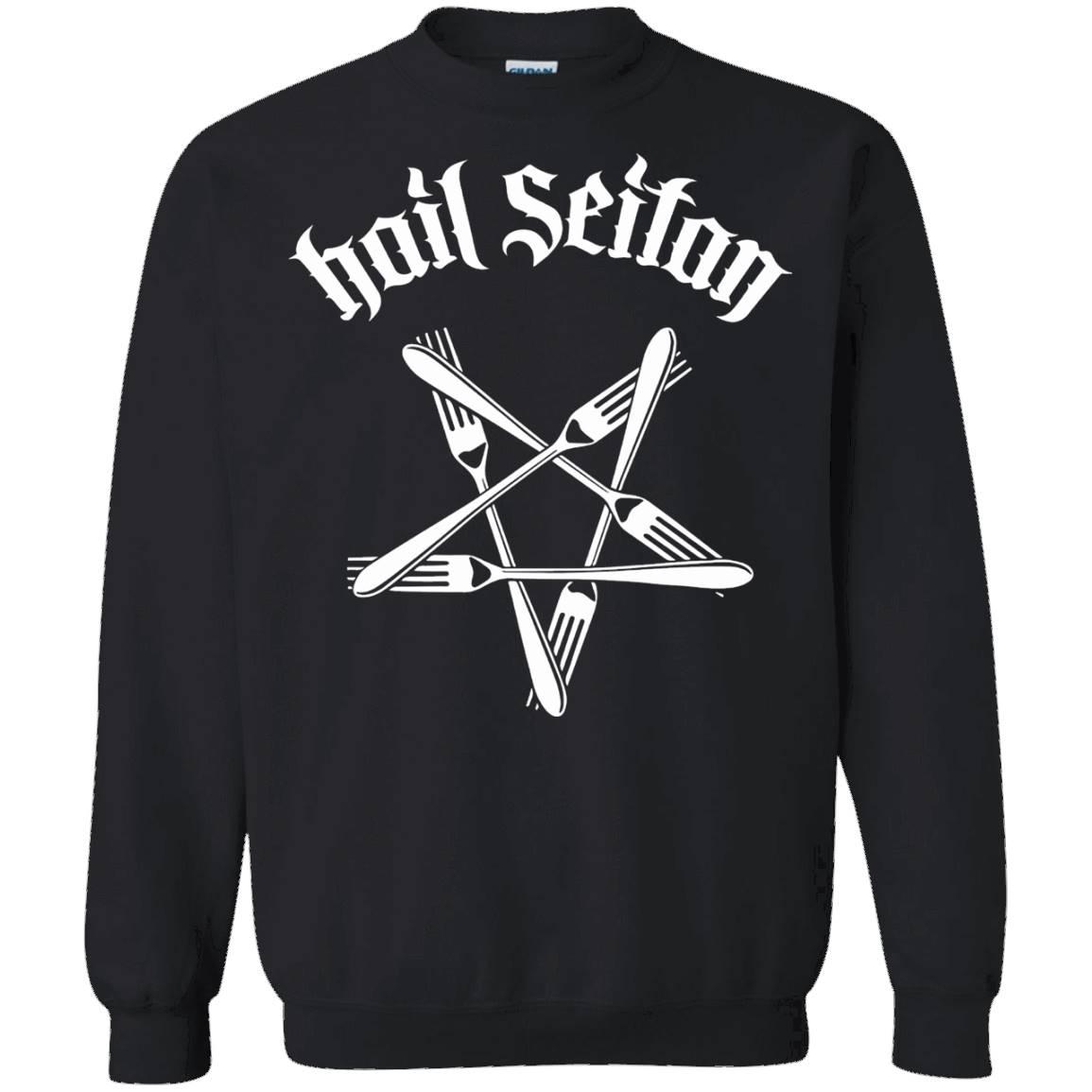 Hail Seitan Go Vegan T Shirts – Sweatshirt