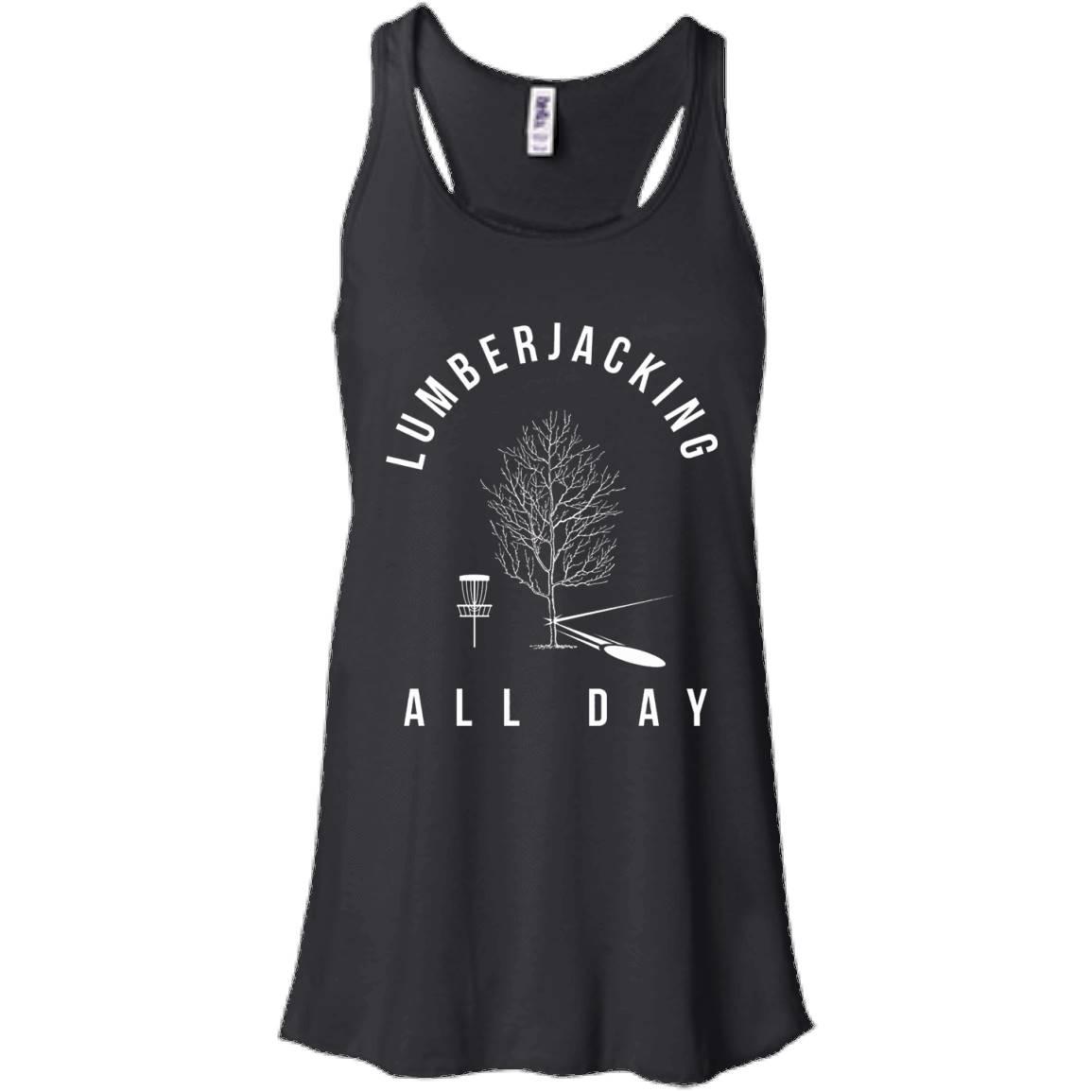 Lumberjacking All Day Disc Golf Shirt, Funny Sports Gift – Women Tank