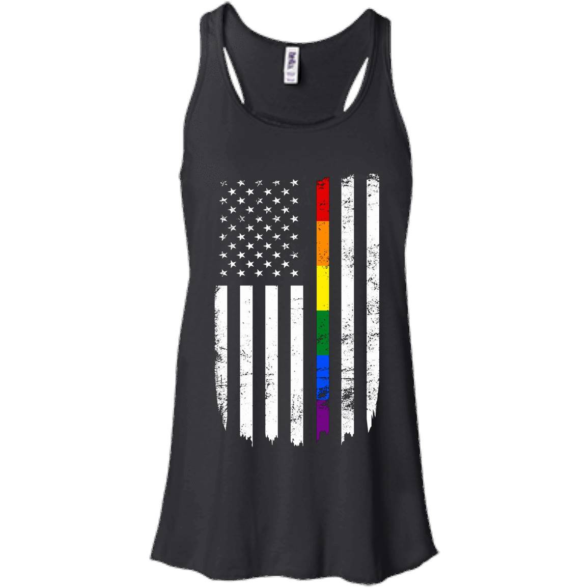 Support LGBT America Rainbow Flag Campaign Gay Equal T-shirt – Women Tank