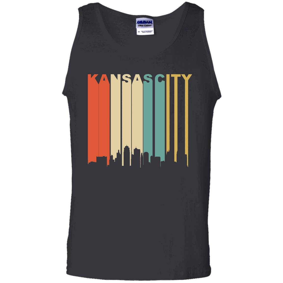 Retro 1970's Kansas City Missouri Downtown Skyline T-Shirt – Tank Top