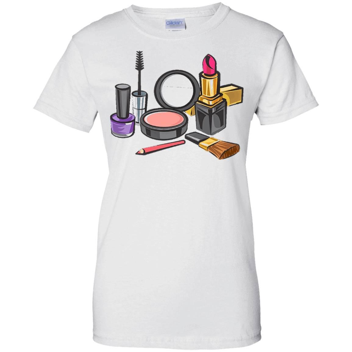 Make Up t-shirt Mascara Lipstick Nail Polish Blush – T-Shirt