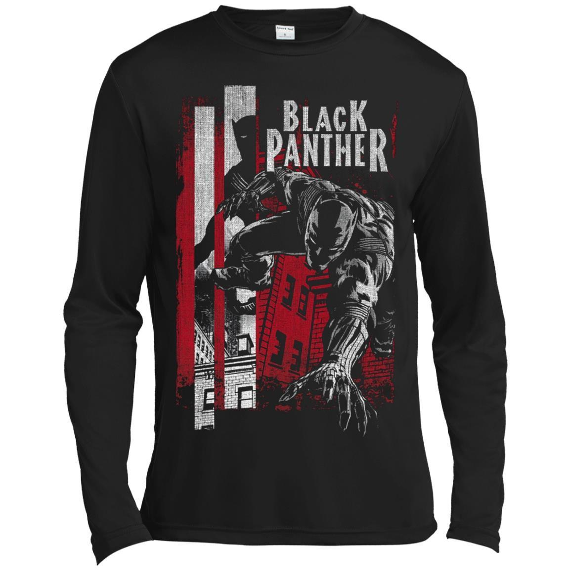 Black Panther Lurk Graphic LS T-Shirt