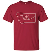 406 Montana T-Shirt State Local Pride Home