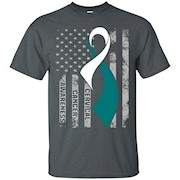 Cervical Cancer Awareness Shirt. American Flag T-Shirt