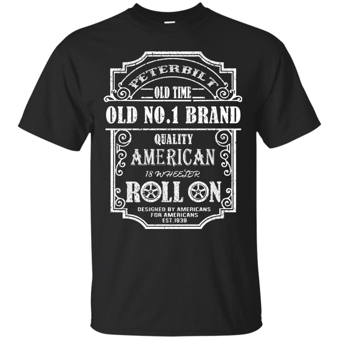 Men's PETERBILT TRUCK BACK PETERBILT OLD NO 1 Shirt
