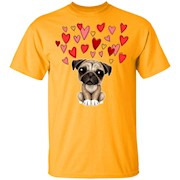 Funny Cute PUG Dog Lover Dad Mom Girl Lady Men Women T-Shirt