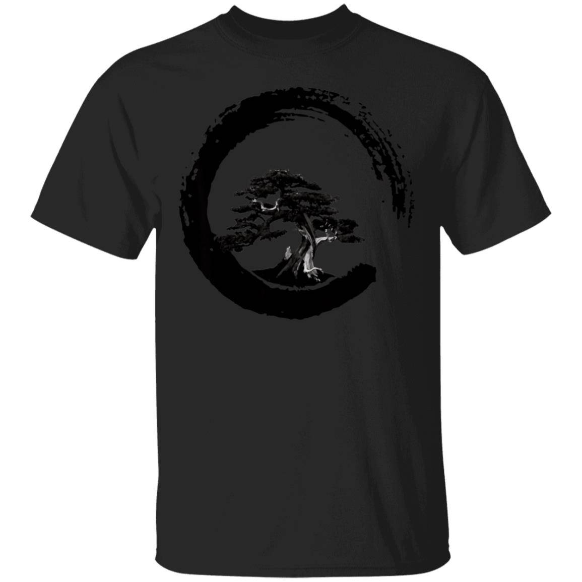 Japanese Bonsai Tree in Enso Circle Shirt – T-Shirt