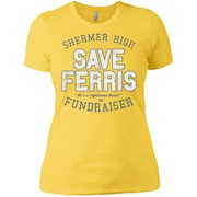 Ferris Bueller Shermer High Save Ferris Ladies' T-Shirt