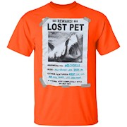 Shark T Shirt Lost Pet Lover Tee Shark Funny Shark Costume – T-Shirt